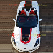 C7 Corvette Stingray white convertible with GT1 stripes (2)