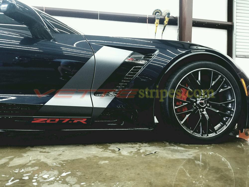 C7 Corvette Z06 Grand Sport C7r Side Stripes Flag Option