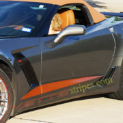 C7 Corvette Z06 shark gray with gloss kalahari side stripe 2