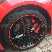 C7 Corvette wheel with red pin stripe