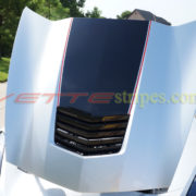 Silver C7 Stingray with carbon flash black and red ME stinger stripe