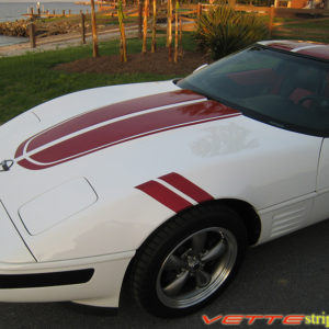 C4 Corvette with maple red GS fender hash mark stripe