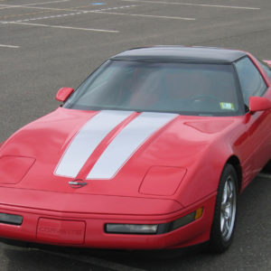 C4 Corvette with metallic silver CE1 stripe