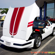 C4 Corvette red CE stripe