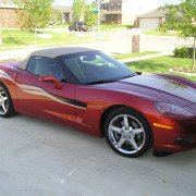 C6 Corvette DSOM side stripe graphic in sandstone and black  5