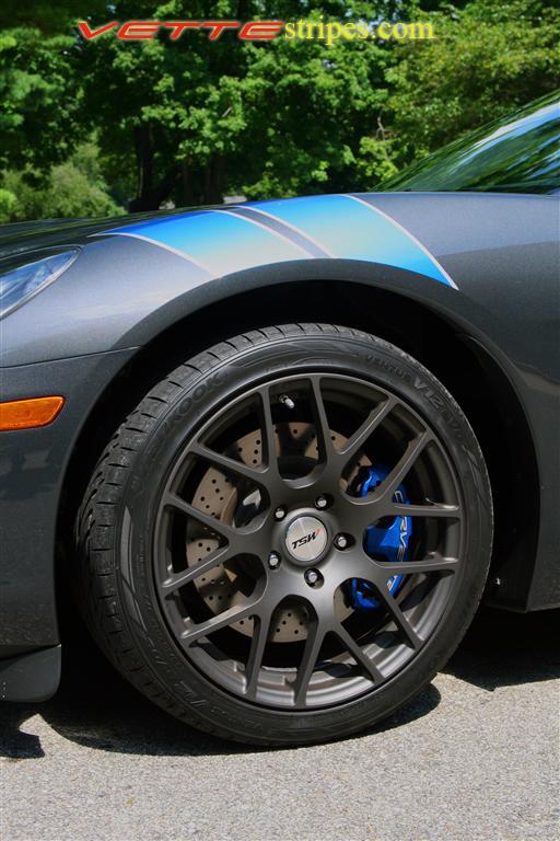 C6 Corvette Rf Grand Sport Fender Hash Mark Stripes