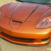 C6 Corvette Z06 GrandSport black hood spear stripe 2