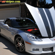 C6 Corvette Z06 GrandSport machine silver with ultra metallic black ME2 stripe 2