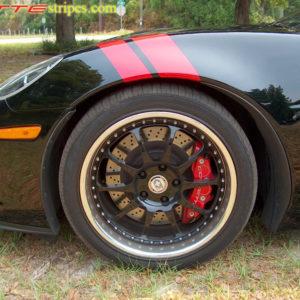 C6 Corvette Z06 Grand Sport red fender hash mark stripe