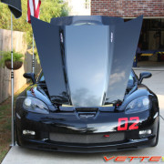 C6 Corvette Z06 black with metallic dark charcoal ME3 stripe 6