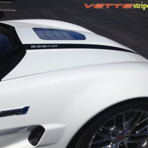 C6 Corvette ZR1 427 edition hood stripe graphic