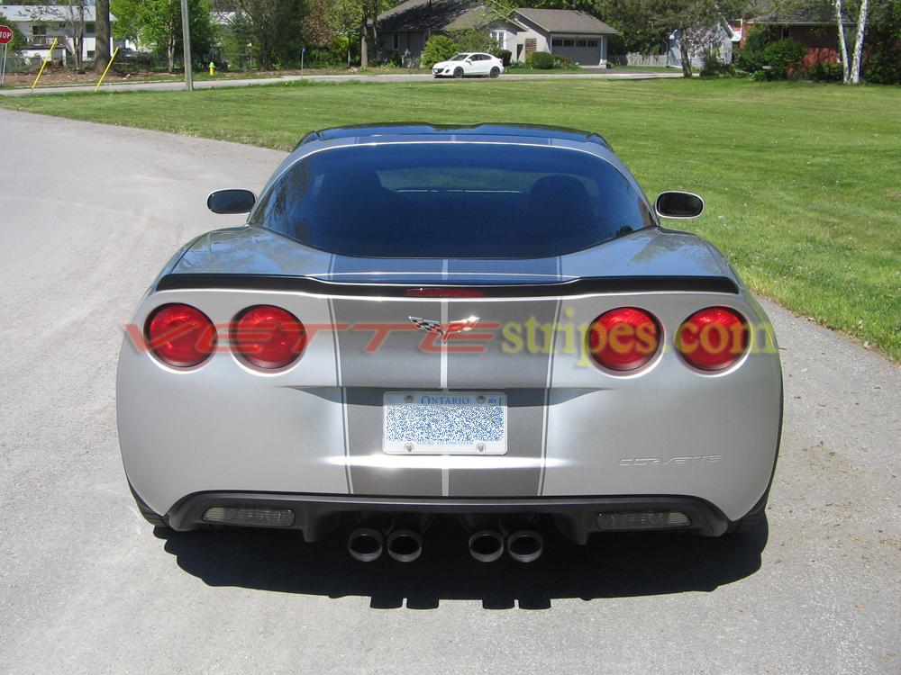 C6 Corvette GM Full Length Dual Racing Stripe 2 - All C6's