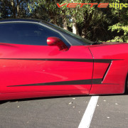 C6 Corvette mag red with black side stripe graphic decal 1