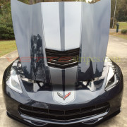 C7 Corvette Stingray Night Race Blue with Metallic Dark Charcoal JE Stripes 2