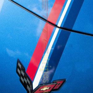 C7 Corvette Stingray Z06 Twilight edition stripes
