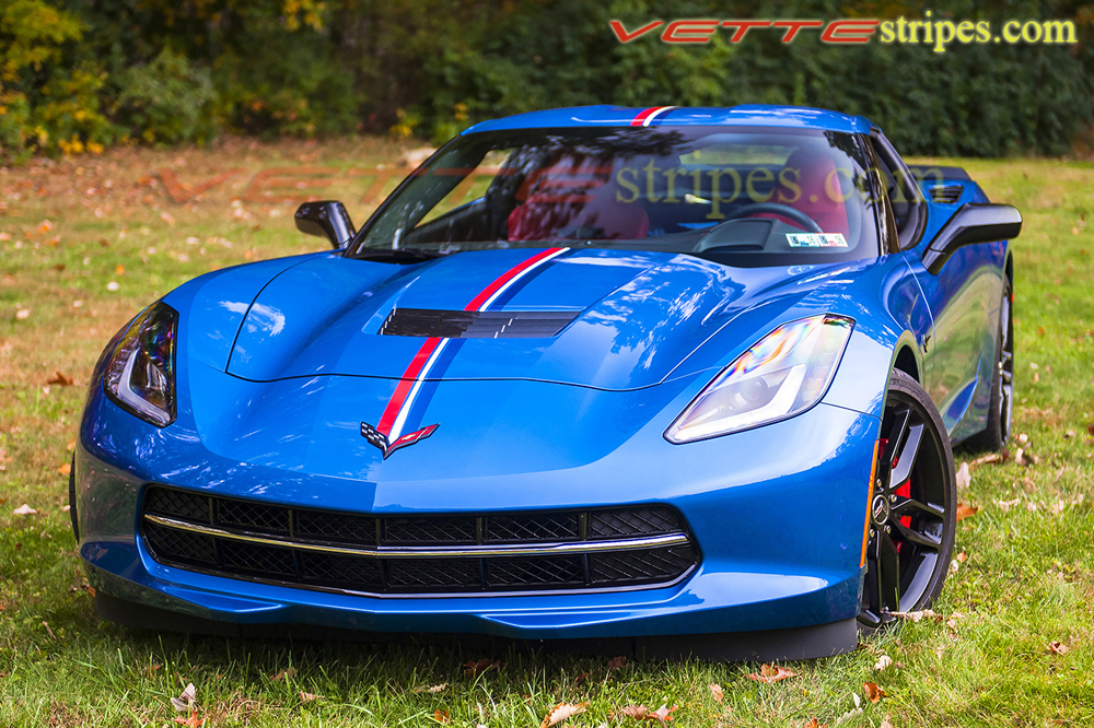 c7 stingray c7 z06 twilight edition full length racing red white and blue stripes. Black Bedroom Furniture Sets. Home Design Ideas