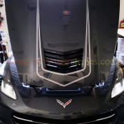 C7 Corvette Stingray shark grey with metallic silver LT1 stripe 2