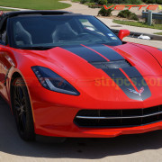 C7 Corvette Stingray torch red with carbon flash COM CSR stripe 1