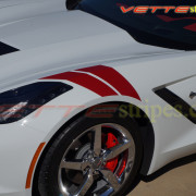 C7 Corvette Stingray with red fender hash mark stripe 10