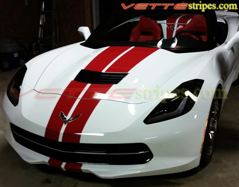 C7 Corvette Grand Sport Stingray Gm Full Length Racing Stripes Vettestripes