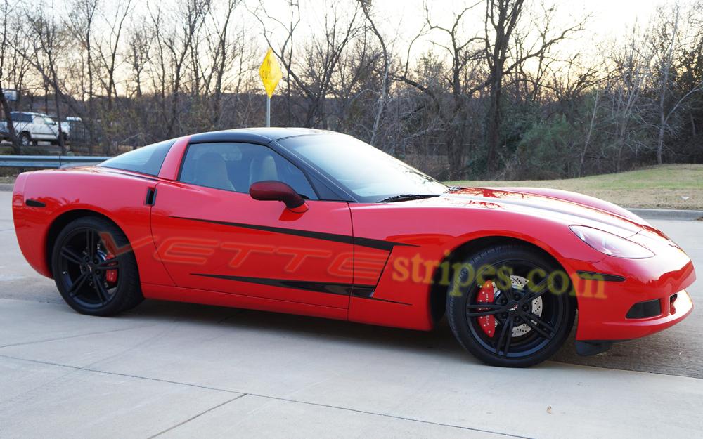 C6 Corvette Side Spear Stripe 3 Fit All Models