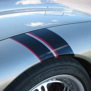 C5 Corvette black and red fender hash mark stripe