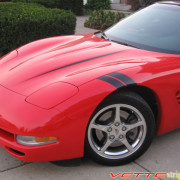 C5 Corvette black fender hash mark stripe