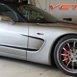 C5 Corvette black side graphic stripe style 3