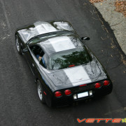 C5 Corvette black with gunmetal classic 1 stripe 16