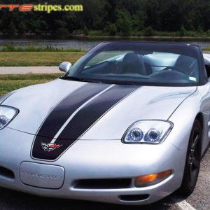 Silver C5 Corvette with black COM CSR stripes