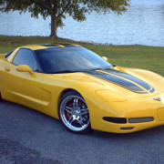 C5 Corvette yellow with black CE commemorative stripe 3