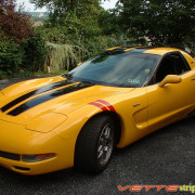 C5 Corvette yellow with black and red CE2 stripe 2