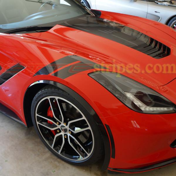 c7 corvette stingray grand sport fender hash marks stripes. Black Bedroom Furniture Sets. Home Design Ideas