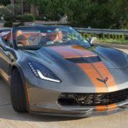 C7 Corvette Z06 shark gray with metallic copper racing stripe 2 (1)