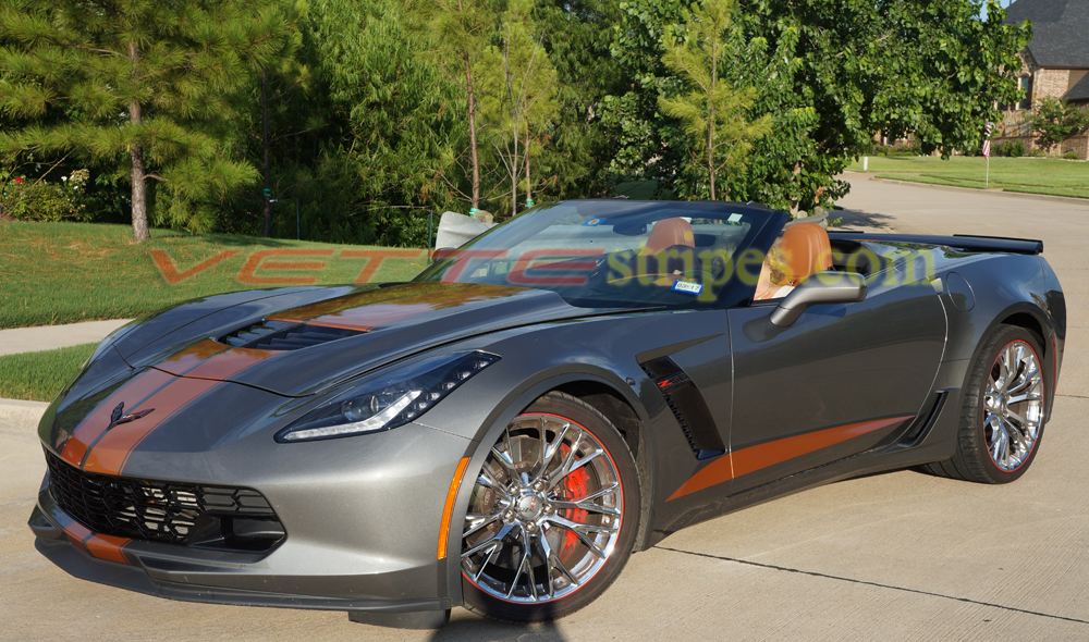 corvette c7 z06 racing stripe stingray side grand sport gm vettestripes stripes gray shark metallic sides both copper