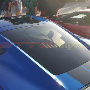 C7 Corvette rear glass jake skull in matte clear
