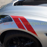 Silver C7 with OEM alike red grand sport fender hash marks