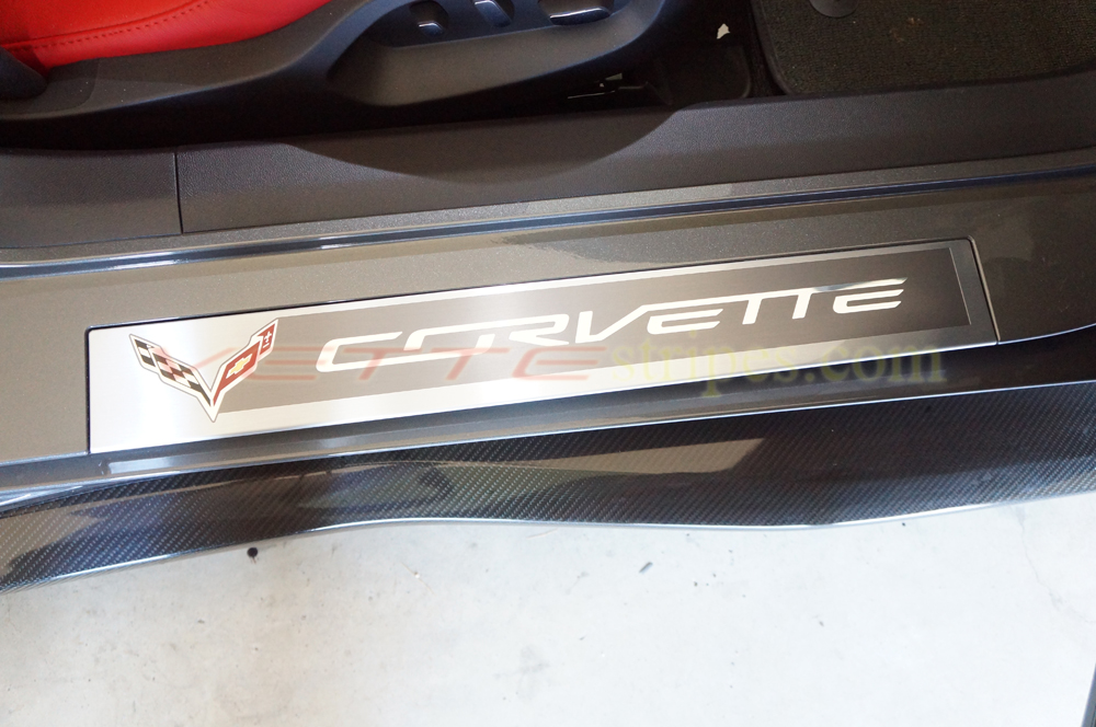 & C7 Corvette Door Sill Protections 3M PRO - pair - VetteStripes.com