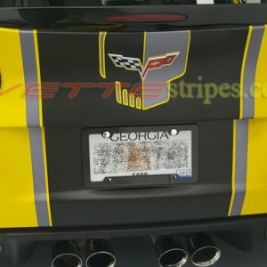 C6 Corvette rear bumper jake skull graphic