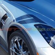 Blade Silver C7 Corvette Grand Sport with metallic dark charcoal heritage fender hash marks