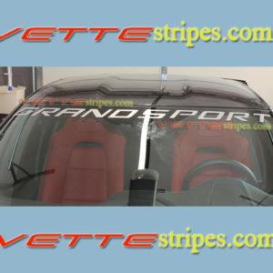 C7 Corvette Grand Sport windshield letter decal