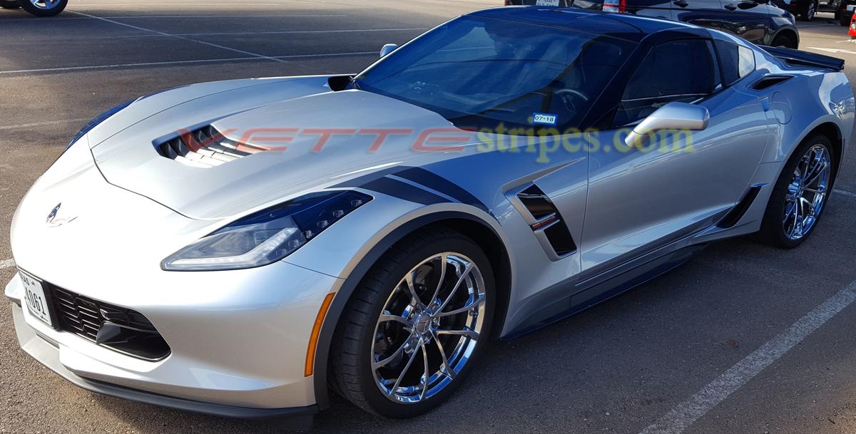 c7 corvette grand sport oem fender hash marks heritage package fit c7 z06 grand sport. Black Bedroom Furniture Sets. Home Design Ideas