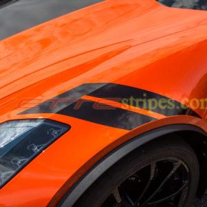 2018 C7 Corvette Grand Sport OEM fender hash marks in 3M 1080 carbon flash