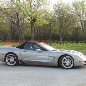 Pewter C5 Corvette with metallic silver C1 side stripe