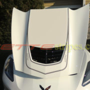 White C7 Corvette Z06 with matte black LT4 stripes