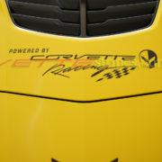 C7 Corvette hood powered by corvette racing decal