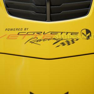 C7 Corvette hood powered by corvette racing decal
