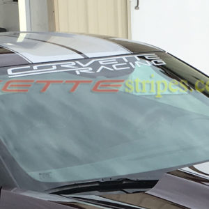 C7 Z06 Corvette Racing windshield decal in all metallic silver