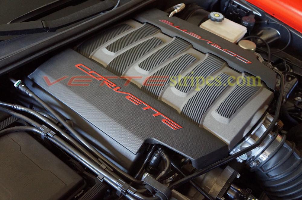 C7 Corvette LT1 engine decal graphic