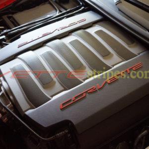 C7 corvette stingray C7 grand sport engine compartment enhancement stickers decals in 3M 1080 carbon fiber
